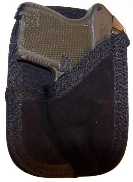 Pro-Tech Outdoors Suede Leather Back Pocket Wallet Holster