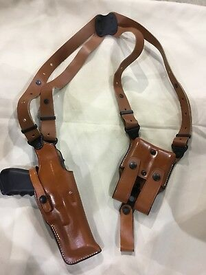 Armadillo Tan Leather Shoulder Holster for Glock 41