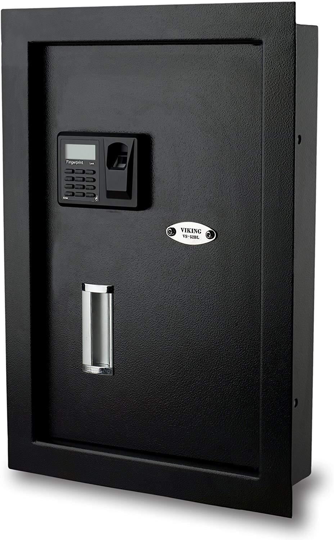 Viking Security Safe VS-52BL Biometric Fingerprint Wall Safe