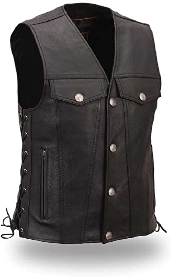 First Manufacturing Men's Buffalo Nickel Vest