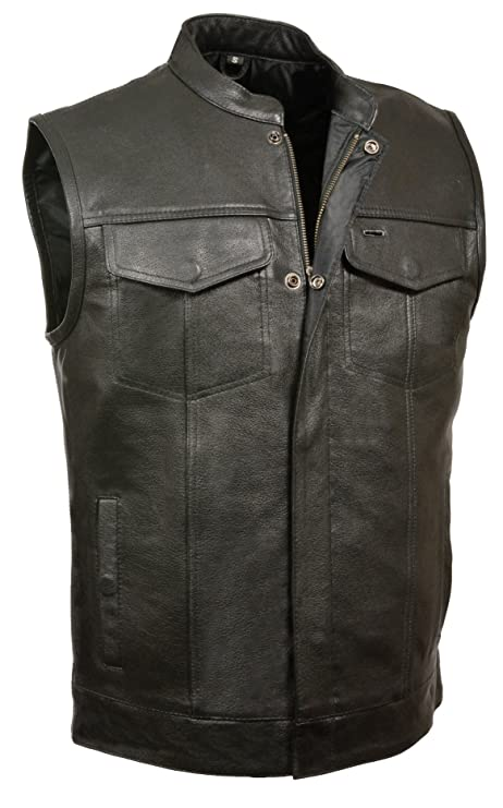 SOA Motorcycle Vest with Dual Concealed Gun Pockets