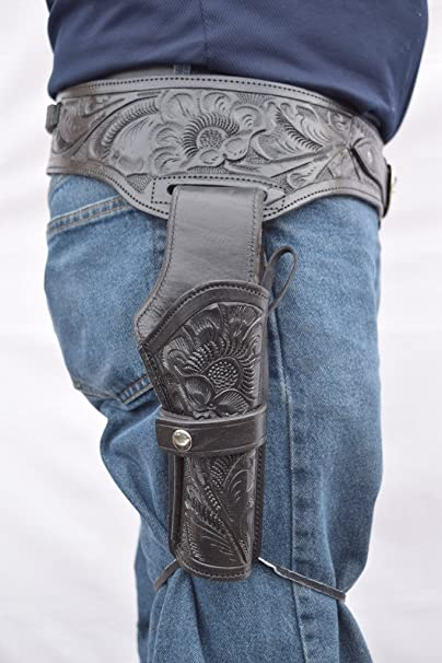 Gun Holster & Belt Cowboy Western Style Rig .22 Cal Single Drop Holster